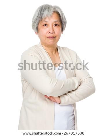 Old lady portrait - stock photo