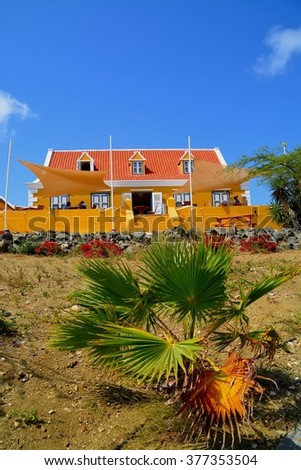 Old landhouse Views around Curacao a small Caribbean Island in the ABC islands - stock photo