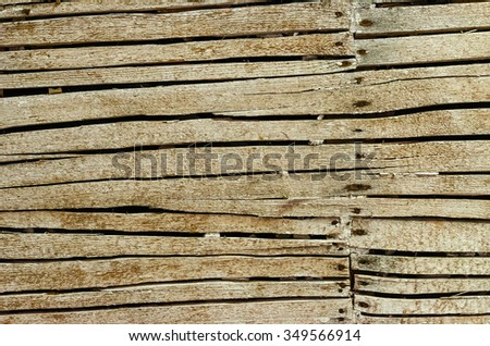 Old Lath Covered Wall Ready for Plaster for your Background - stock photo