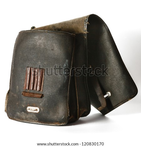Old leather bag for tools