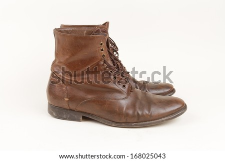 Old leather boots.