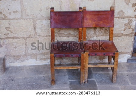 Old leather chairs