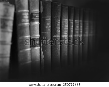 old legal books banner - stock photo