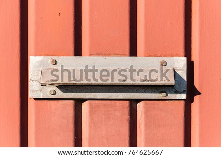Old Letterbox Or Mailbox In The Metal Gate Door Traditional Way Of  Delivering Letters To The