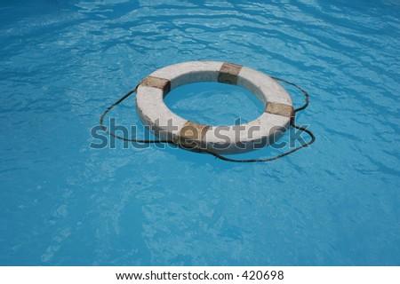 Old life-buoy - stock photo