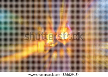 old light bulb blur background with bokeh image.(dot Pattern Pixelation effect image) - stock photo