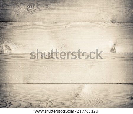 Old light grunge wooden planks texture or tabel surface with space for text - stock photo