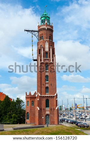 old light house in Bremerhaven Germany - stock photo