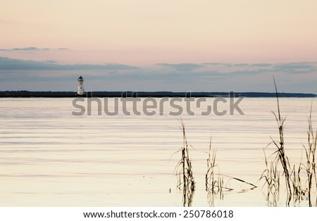 Old lighthouse at the Cockspur island, Georgia, USA - stock photo