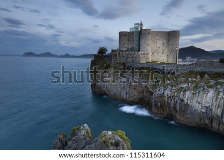 Old lighthouse of Castro Urdiales (Bay of Biscay,Spain)