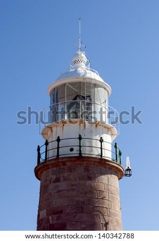 Old lighthouse of Corrubedo - stock photo
