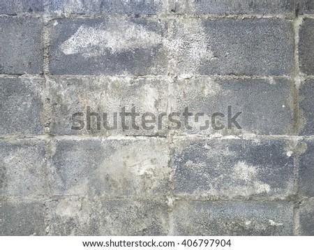 Old lightweight concrete brick wall - stock photo