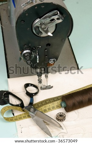 old-line Sewing Machine - stock photo