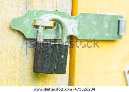 Old Lock On The Door. Lock On The Door Of An Old Farmhouse . True