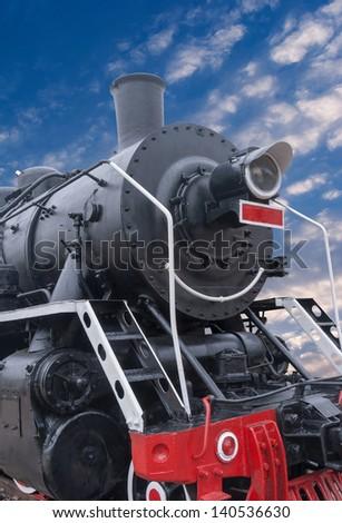 Old locomotive - stock photo