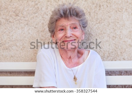 old lonely woman