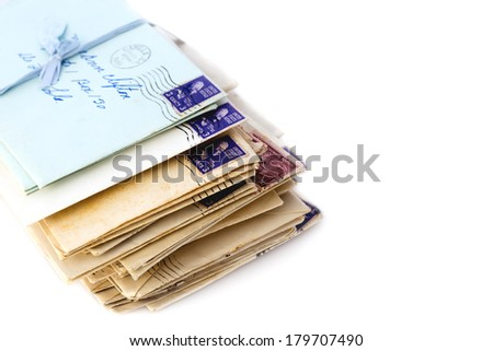 Old Love Letters - stock photo