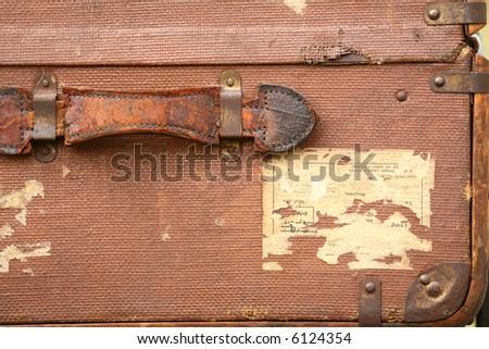 old luggage case - stock photo