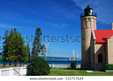 Old Mackinac Point Lighthouse - stock photo