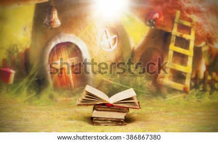 Old, magic, fairytale book