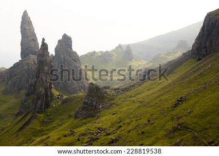 Old Man of Storr, Isle of Skye ,Scotland - stock photo
