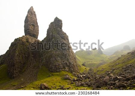 Old Man of Storr, Isle of Skye ,Scotland - stock photo