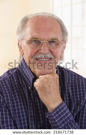 old man portrait ( business or retired) - stock photo