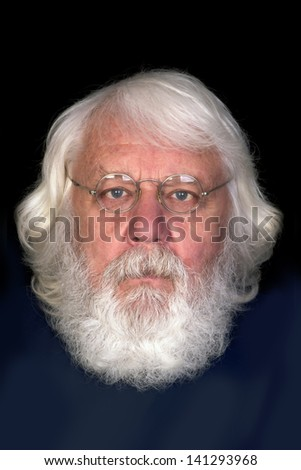 Old man portrait - story book grandpa with glasses