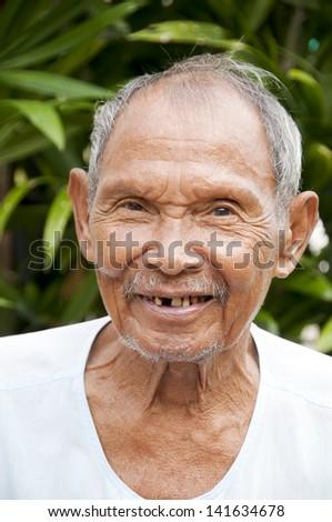 Old Man Smiling - stock photo