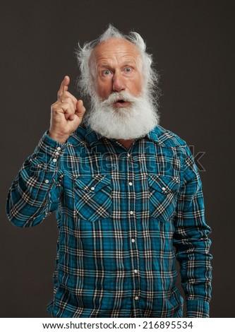 Groovy Old Man Long Beard Big Smile Stock Photo 216895531 Shutterstock Short Hairstyles For Black Women Fulllsitofus