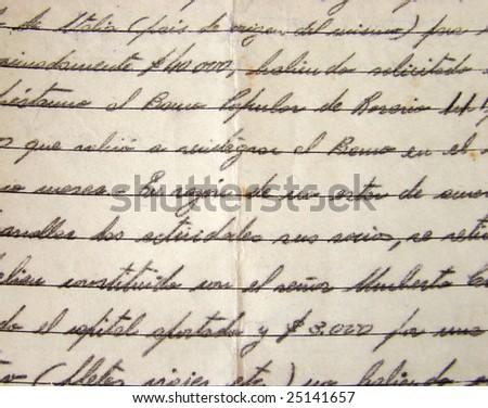 Old manuscript background - Old Letter background - stock photo