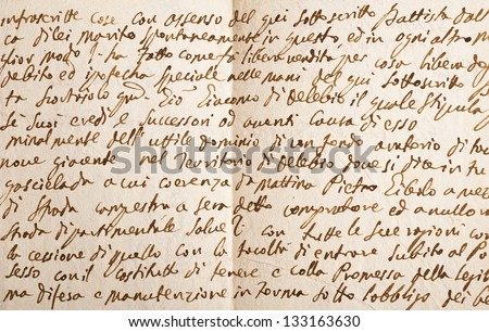 Old manuscript isolated on white