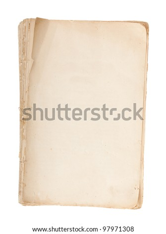 Old manuscript with copy space isolated on white background - stock photo