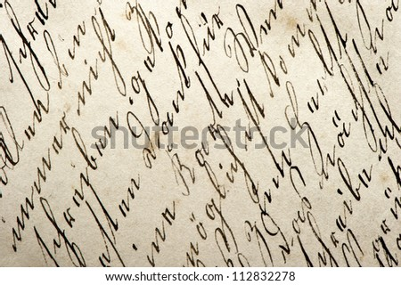 old manuscript with vintage handwriting. abstract grungy paper background