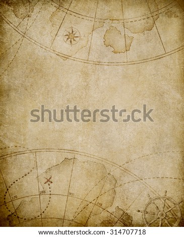 old map background with copyspace - stock photo
