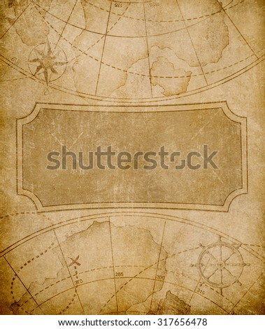 old map cover template or background - stock photo