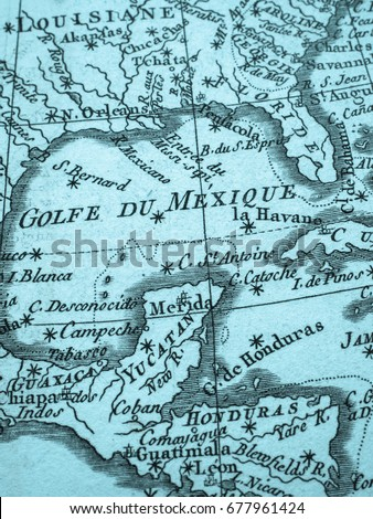 Old Map Gulf Of Mexico