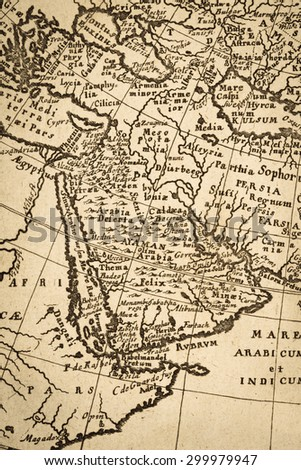 Old maps Arabian Peninsula