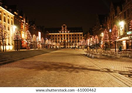 Old market Leuven - stock photo