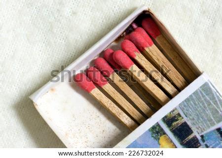 Old match box  - stock photo