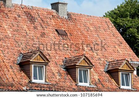 old Mazurian house - stock photo