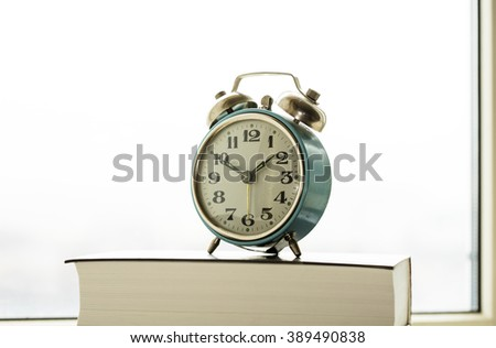 old mechanical alarm clock
