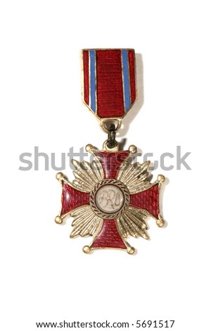 Old medal - stock photo