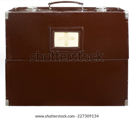 old medical suitcase. - stock photo