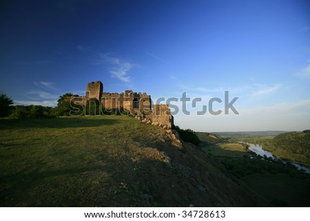 Old medieval fortress landscape in Transylvania