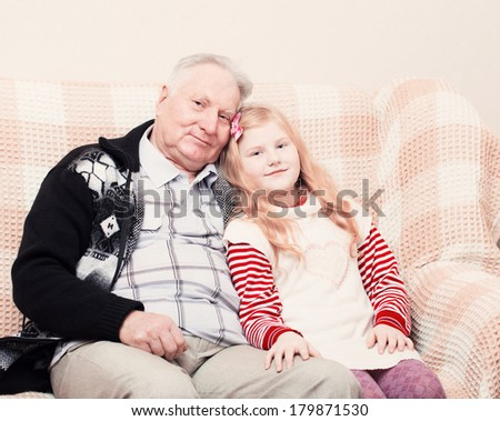 old men and little girl