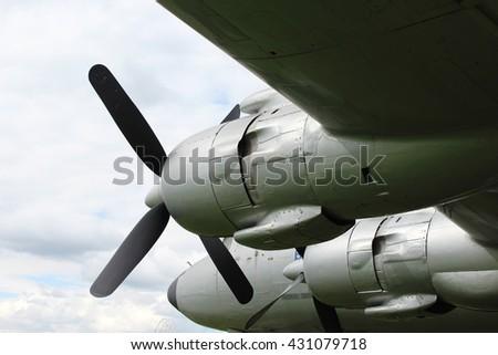 old metal aircraft - stock photo