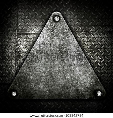 old metal background - stock photo