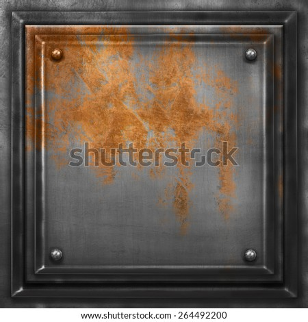 Old metal background for industrial design - stock photo