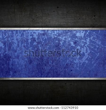 Old metal board - stock photo